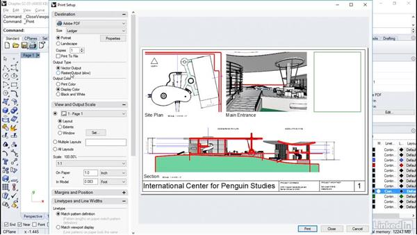 Printing layout pages: Rhino Project: Architectural Documentation