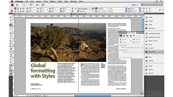 Using the exercise files: InDesign CS4: Typography