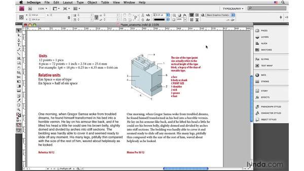 Type anatomy and terminology: InDesign CS4: Typography