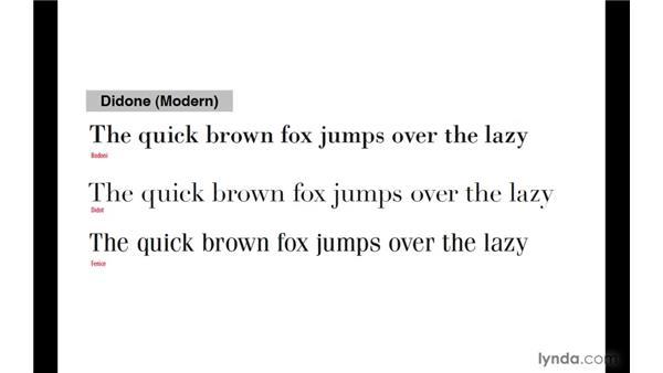 Type classification: InDesign CS4: Typography