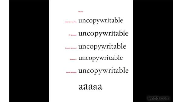 What's in a name? (Typeface interpretations): InDesign CS4: Typography