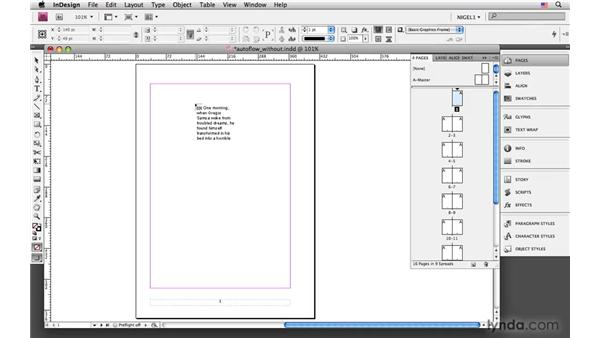 Auto-flowing without adding pages: InDesign CS4: Typography