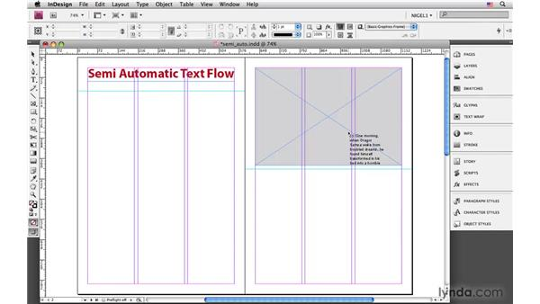 Semiautomatic text flow: InDesign CS4: Typography