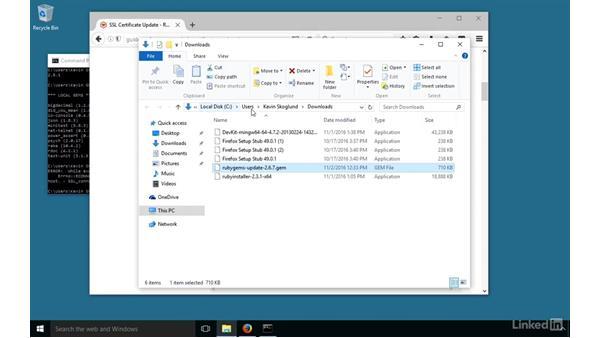 RubyGems: Installing and Running Ruby on Rails 5: Windows