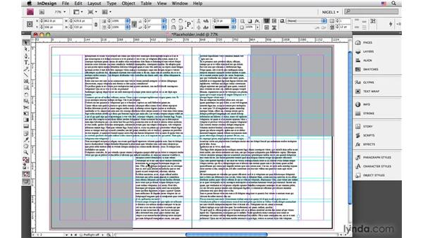 Mocking up pages with placeholder text: InDesign CS4: Typography