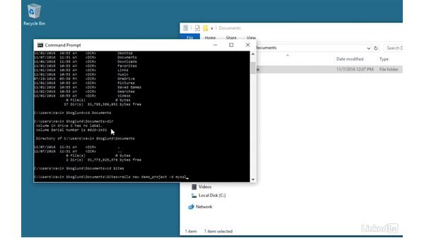 Create a new project: Installing and Running Ruby on Rails 5: Windows