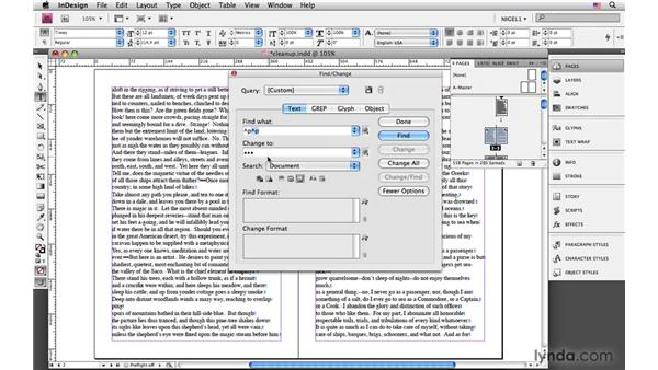 Cleaning up text: InDesign CS4: Typography