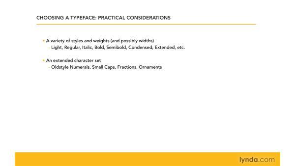Practical typefaces: InDesign CS4: Typography