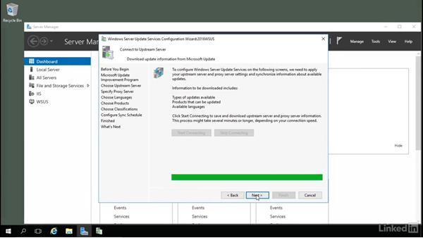 Configuring WSUS: Windows Server 2016: Manage, Monitor, and Maintain Servers