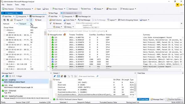 Using Message Analyzer reports: Windows Server 2016: Manage, Monitor, and Maintain Servers