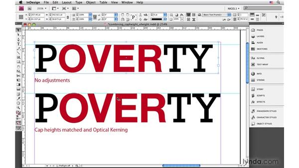 Setting X-height: InDesign CS4: Typography