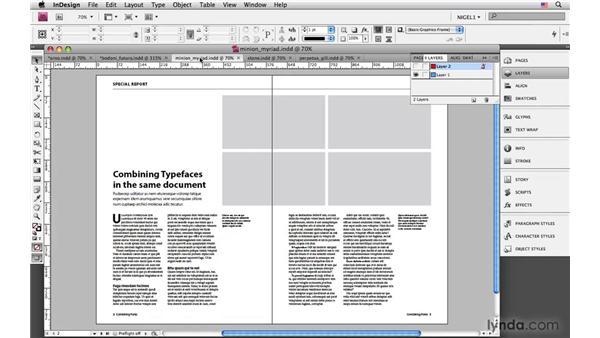 Combining typefaces: InDesign CS4: Typography
