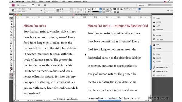 Setting leading: InDesign CS4: Typography