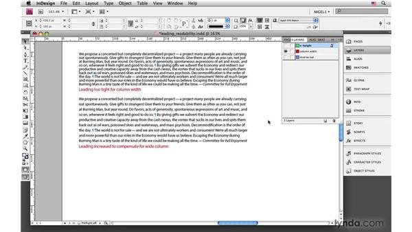 Leading and readability: InDesign CS4: Typography