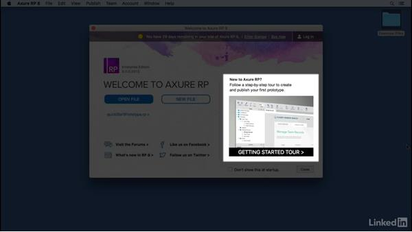 Open Axure: UX Design Tools: Axure RP
