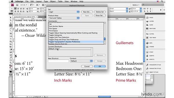 Typographer's quotes, apostrophes, and primes: InDesign CS4: Typography