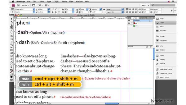 Dashes: InDesign CS4: Typography