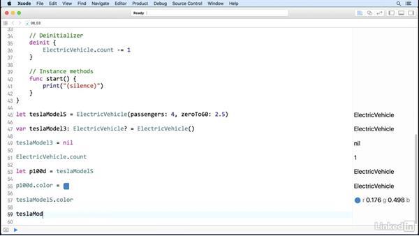 Classes: Methods: Swift 3 Essential Training: The Basics