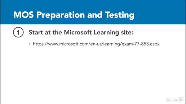MOS exam objectives and registration: OneNote 2010: Prepare for the Microsoft Office Specialist Certification Exam (77-853)