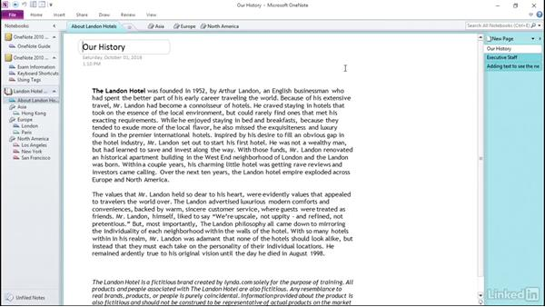 Change page options in OneNote 2010: OneNote 2010: Prepare for the Microsoft Office Specialist Certification Exam (77-853)