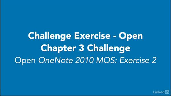 Challenge: OneNote 2010: Prepare for the Microsoft Office Specialist Certification Exam (77-853)