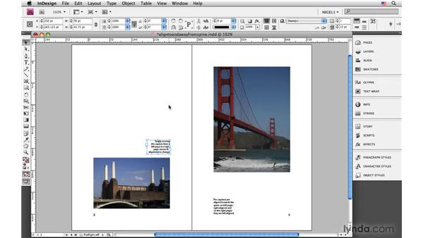 Aligning to or away from the spine: InDesign CS4: Typography