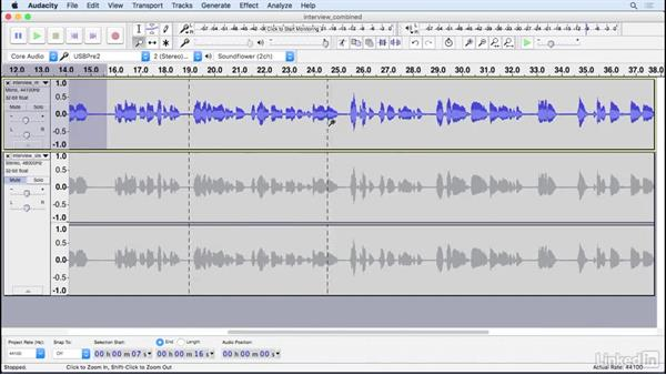 Play audio: Learning Audacity