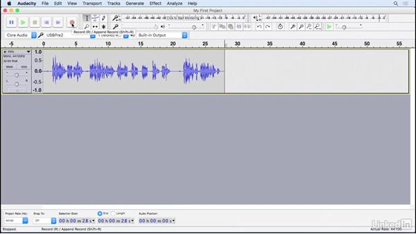 how to add another track on audacity