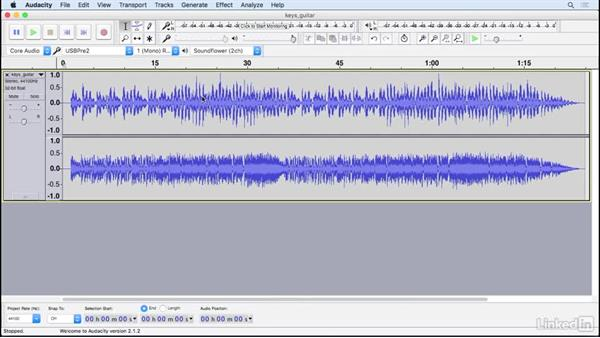 Record two tracks simultaneously: Learning Audacity