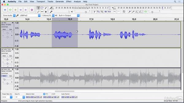 Make selections: Learning Audacity