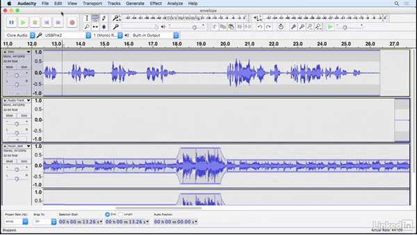 Adjust volume automatically: Learning Audacity