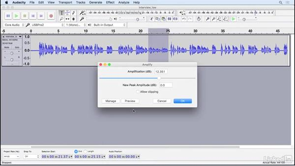 Use common effects: Learning Audacity