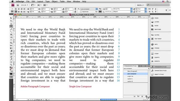 The Adobe Paragraph Composer and Single Line Composer: InDesign CS4: Typography