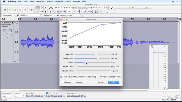 Apply compression: Learning Audacity