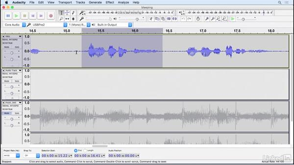 Bleep out unwanted words and sounds: Learning Audacity