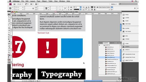 Vertical alignment: InDesign CS4: Typography