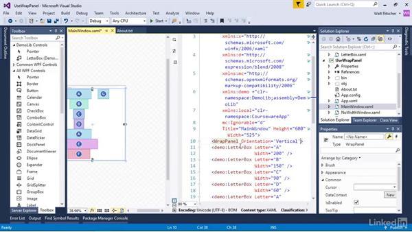 Use the WrapPanel: Windows Presentation Foundation 2: Layout