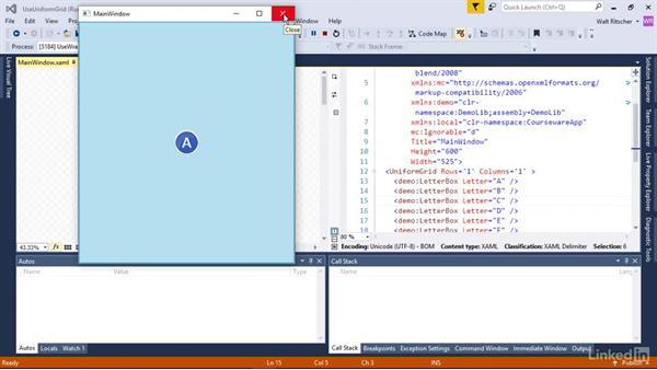 Use the UniformGrid: Windows Presentation Foundation 2: Layout