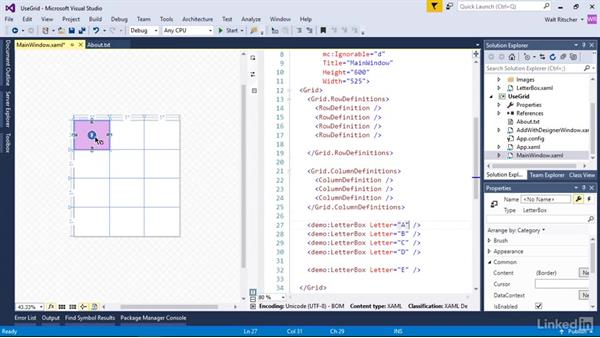 Explore columnar layout with the grid: Windows Presentation Foundation 2: Layout