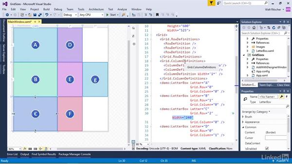 Work with grid column and row sizes: Windows Presentation Foundation 2: Layout