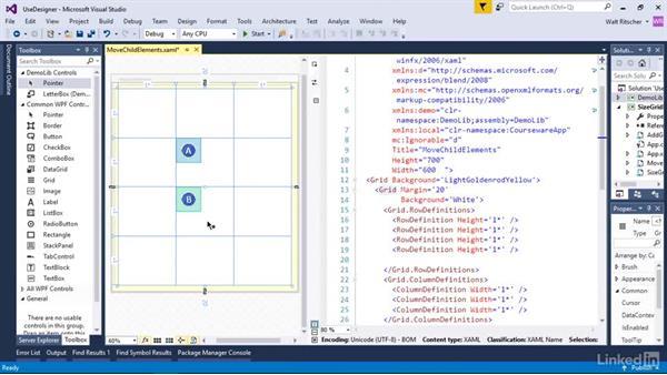 Position grid child elements with the designer: Windows Presentation Foundation 2: Layout