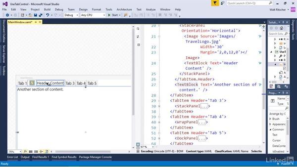 Use a TabControl: Windows Presentation Foundation 2: Layout