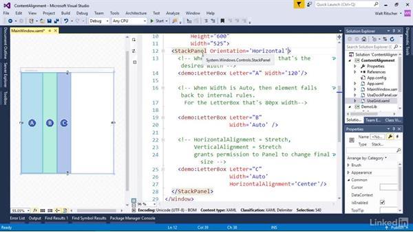Adjust content alignment: Windows Presentation Foundation 2: Layout