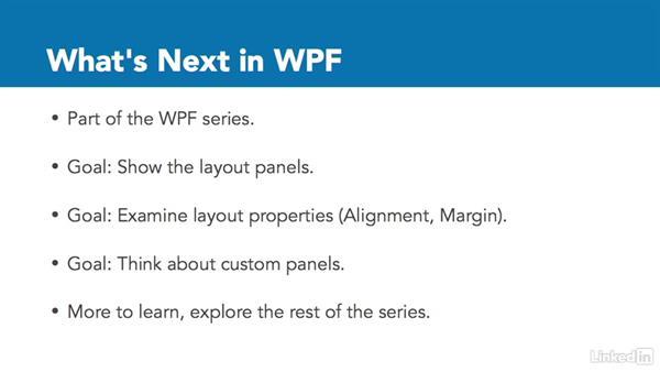 Next steps: Windows Presentation Foundation 2: Layout