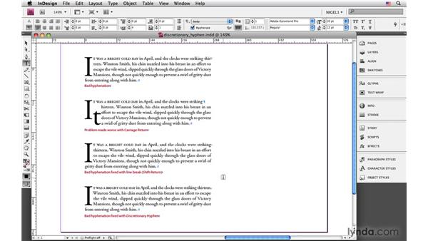 Line breaks and discretionary hyphens: InDesign CS4: Typography