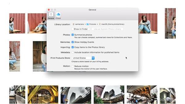 Check your preferences: Photos for macOS Essential Training
