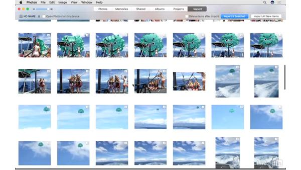 Import images from your camera: Photos for macOS Essential Training