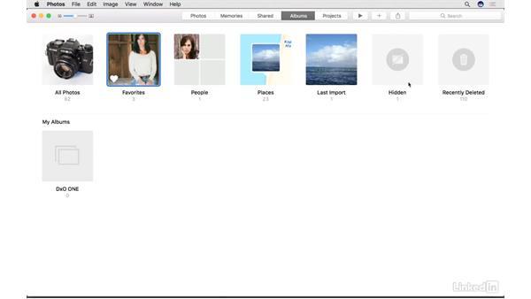 Hide and unhide photos: Photos for macOS Essential Training