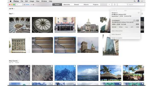 Duplicate a photo: Photos for macOS Essential Training