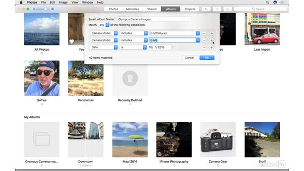 Build and edit Smart Albums: Photos for macOS Essential Training